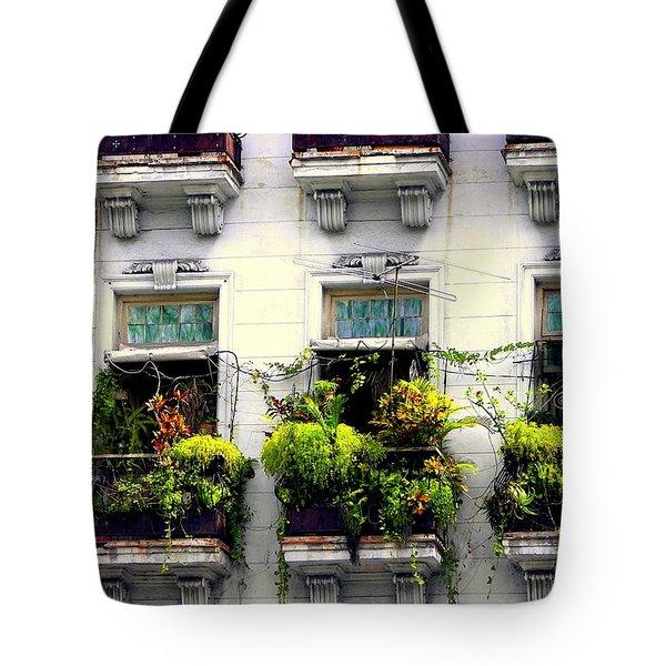 Havana Windows Tote Bag by Karen Wiles