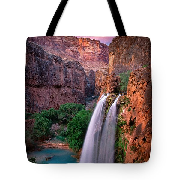 Havasu Falls Tote Bag by Inge Johnsson
