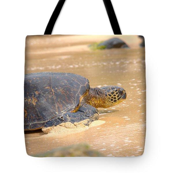 Hawaiian Green Sea Turtle 2 Tote Bag by Brian Harig