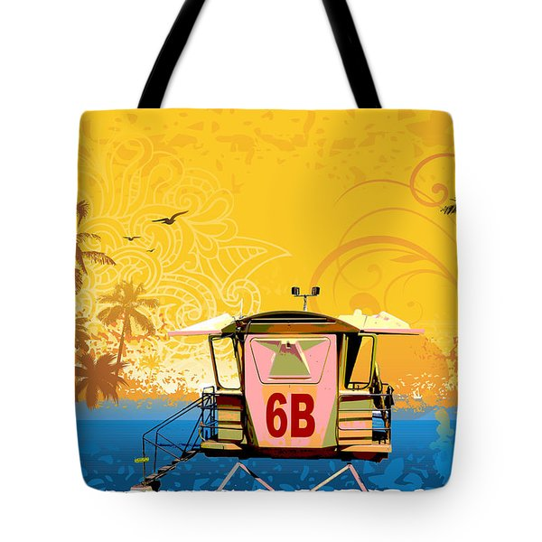 Hawaiian Lifeguard Station Tote Bag by Paulette B Wright
