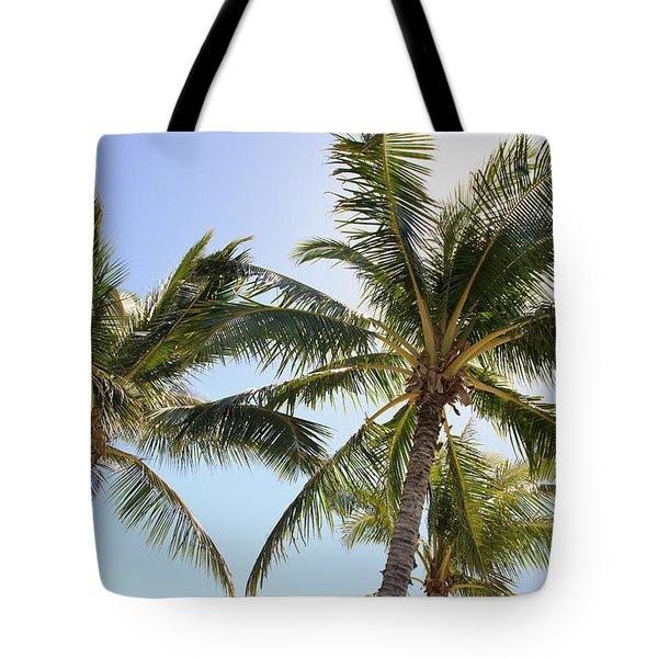 Hawaiian Palm Trees Tote Bag by Brandon Tabiolo