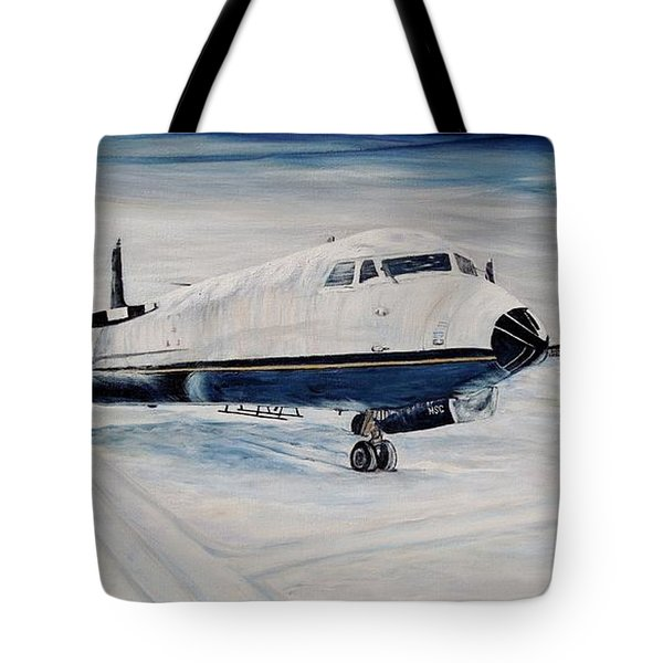 Hawker - Waiting Out The Storm Tote Bag by Marilyn  McNish
