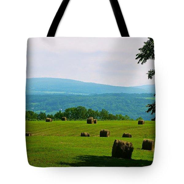 Hay Bails Tote Bag by William Norton