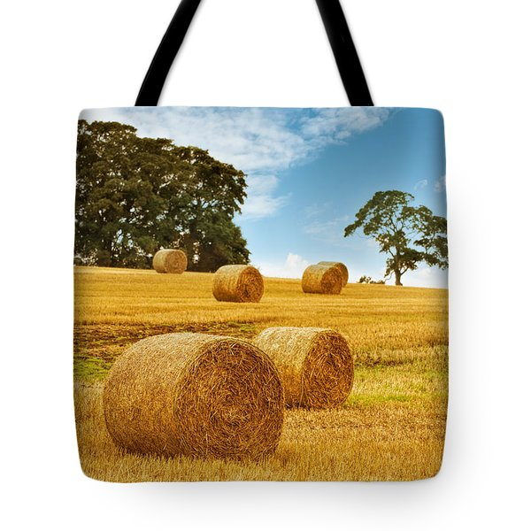Hay Bales Tote Bag by Amanda And Christopher Elwell