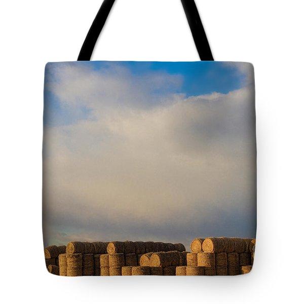 Hay Bales Tote Bag by James BO  Insogna