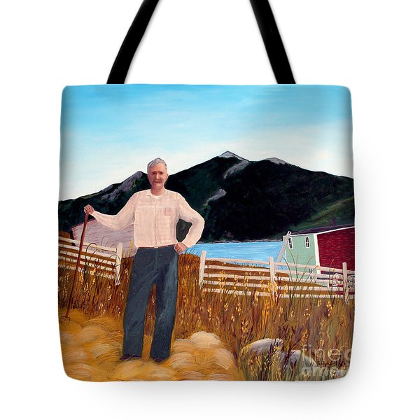 Haymaker With Pitchfork Tote Bag by Barbara Griffin