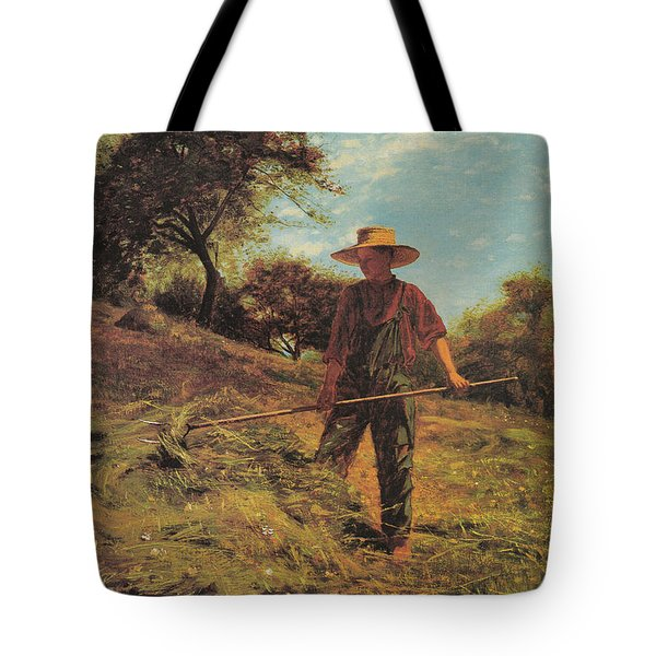 Haymaking Tote Bag by Winslow Homer