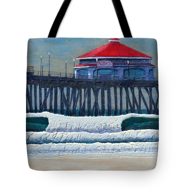 Hb Pier Tote Bag by Nathan Ledyard