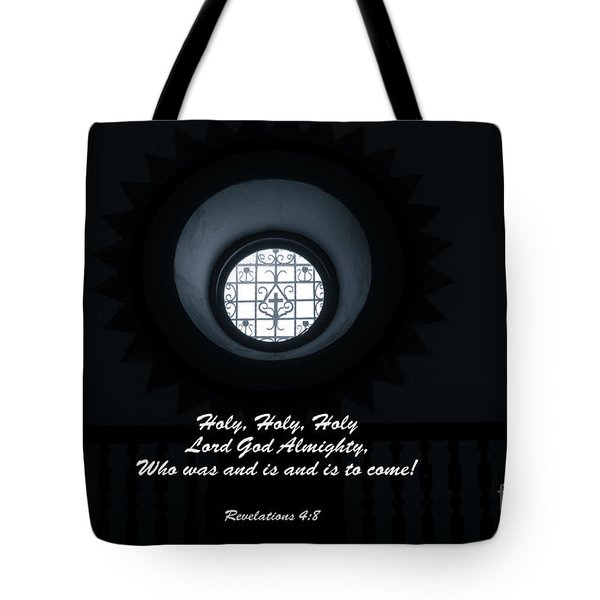 He Is Coming - Revelation 4  8 Tote Bag by Ella Kaye Dickey