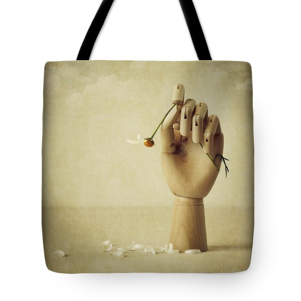 He Loves Me Not Tote Bag by Amy Weiss