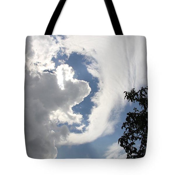 Head in the clouds Tote Bag by Jackie Mestrom