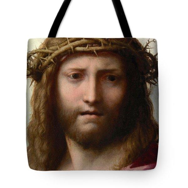 Head of Christ Tote Bag by Correggio