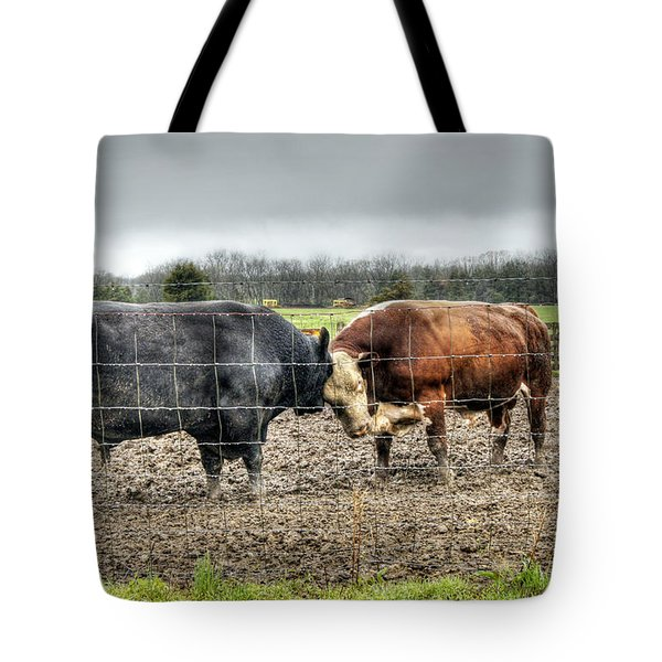 Head To Head Tote Bag by Cricket Hackmann