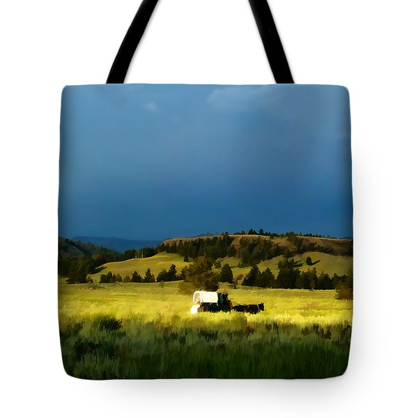 Heading West Tote Bag by Edward Fielding