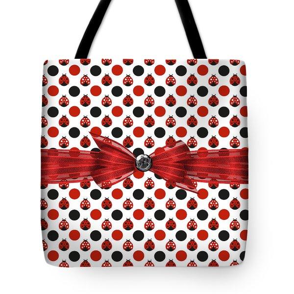 Healing Ladybugs Tote Bag by Debra  Miller