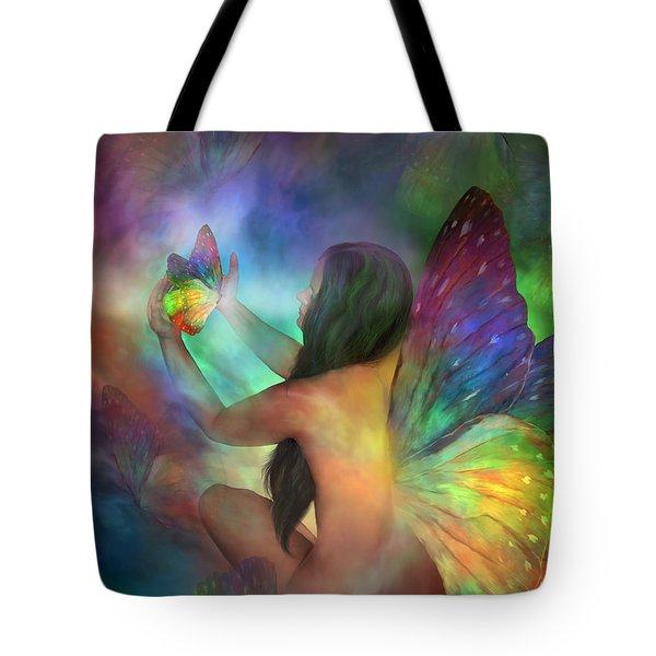 Healing Transformation Tote Bag by Carol Cavalaris