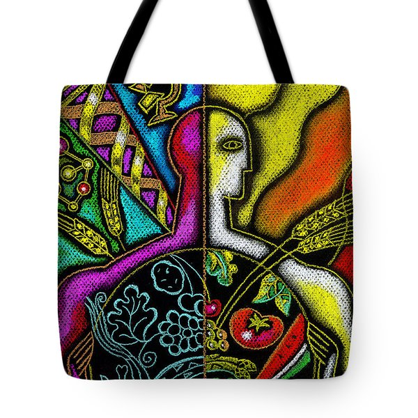 Health Food Tote Bag by Leon Zernitsky