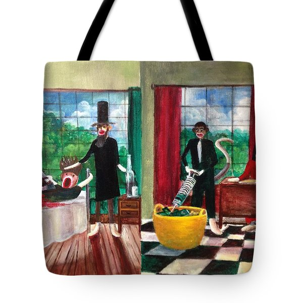 Healthcare Then and Now Tote Bag by Randy Burns