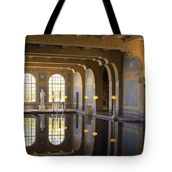 Hearst Castle Roman Pool Reflection Tote Bag by Heidi Smith