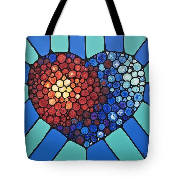 Heart Art - Love Conquers All 2  Tote Bag by Sharon Cummings