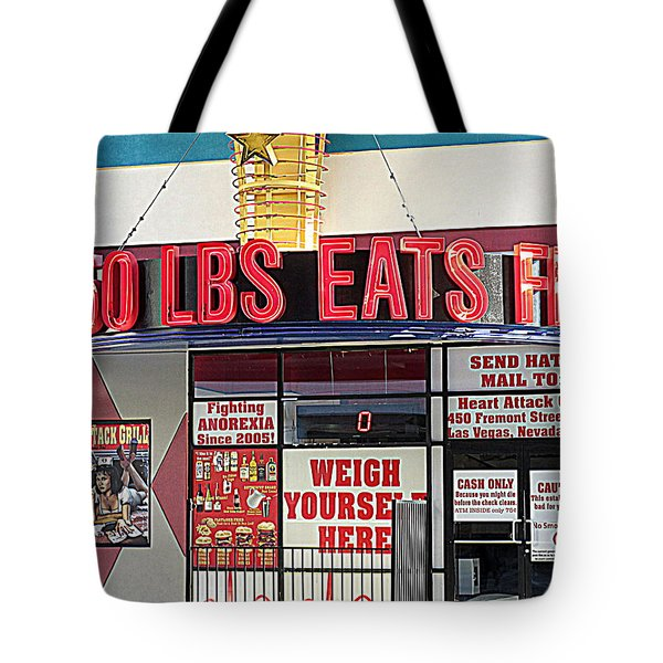 Heart Attack Grill Tote Bag by Kay Novy