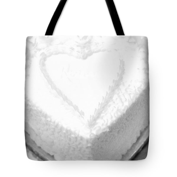 Heart Cake Tote Bag by Kathleen Struckle