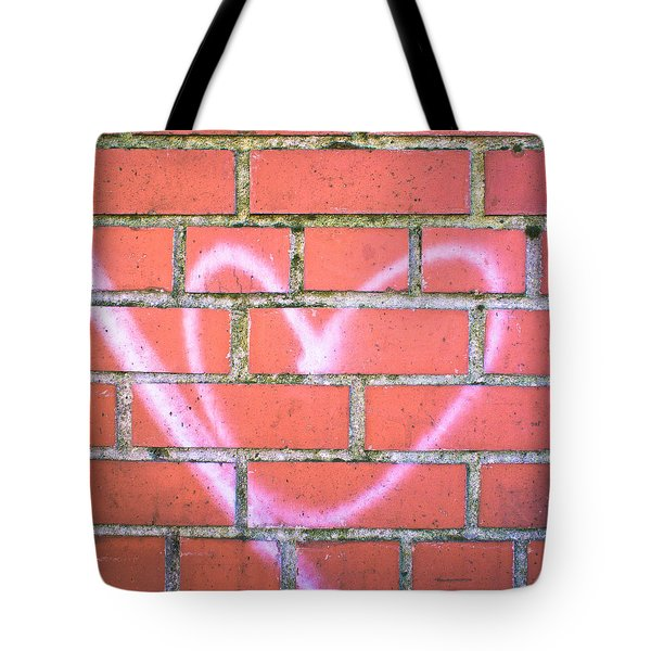 Heart Graffiti Tote Bag by Tom Gowanlock
