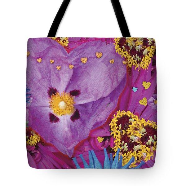 Heart Juxtaposition Tote Bag by Alixandra Mullins