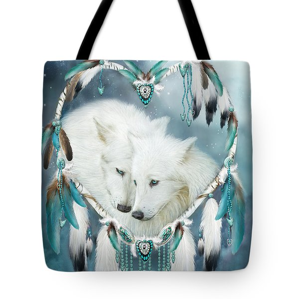 Heart Of A Wolf Tote Bag by Carol Cavalaris