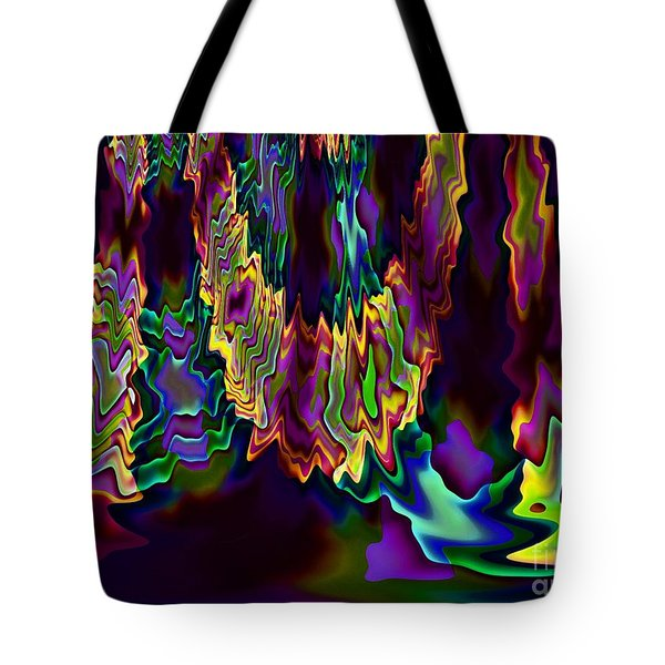 Heart Song Modern Abstract Art Tote Bag by Annie Zeno