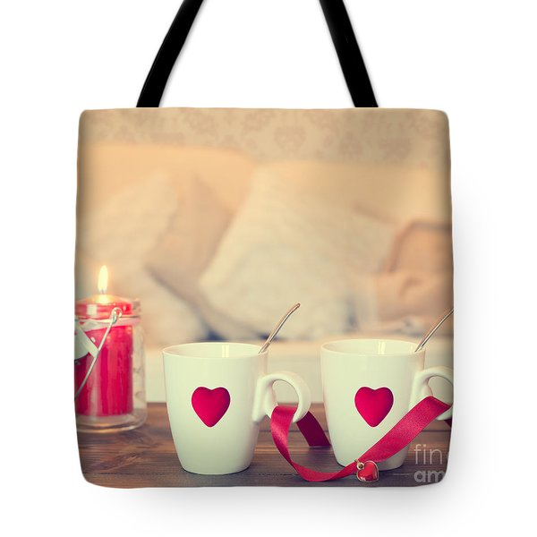 Heart Teacups Tote Bag by Amanda And Christopher Elwell