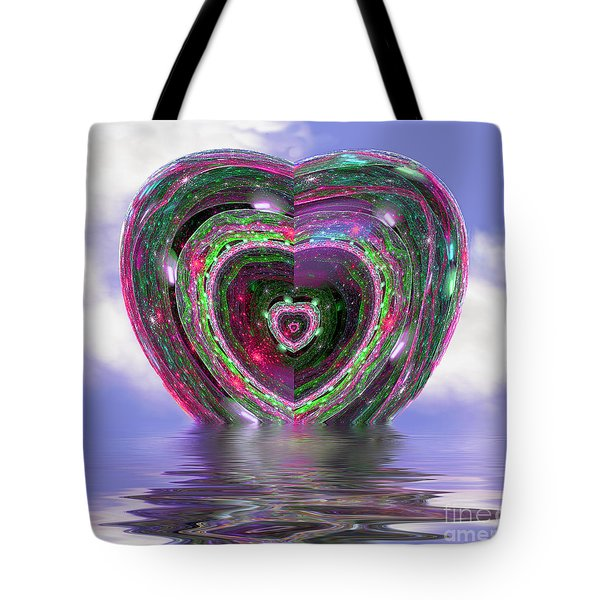 Heart Up Tote Bag by Dee Flouton