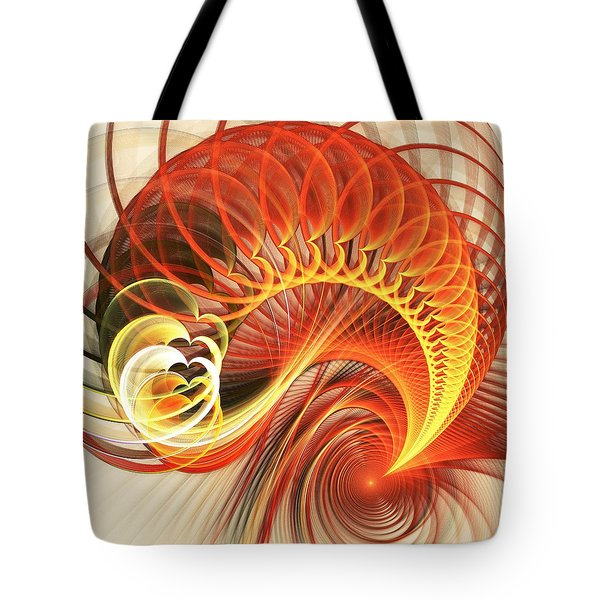 Heart Wave Tote Bag by Anastasiya Malakhova