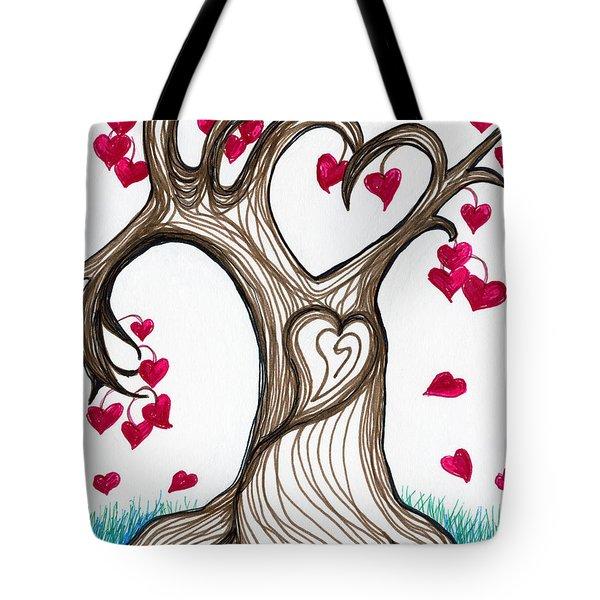 Heartful Tree 4 You Tote Bag by Minnie Lippiatt