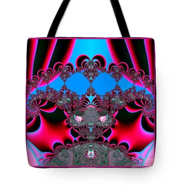 Hearts Ballet Curtain Call Fractal 121 Tote Bag by Rose Santuci-Sofranko