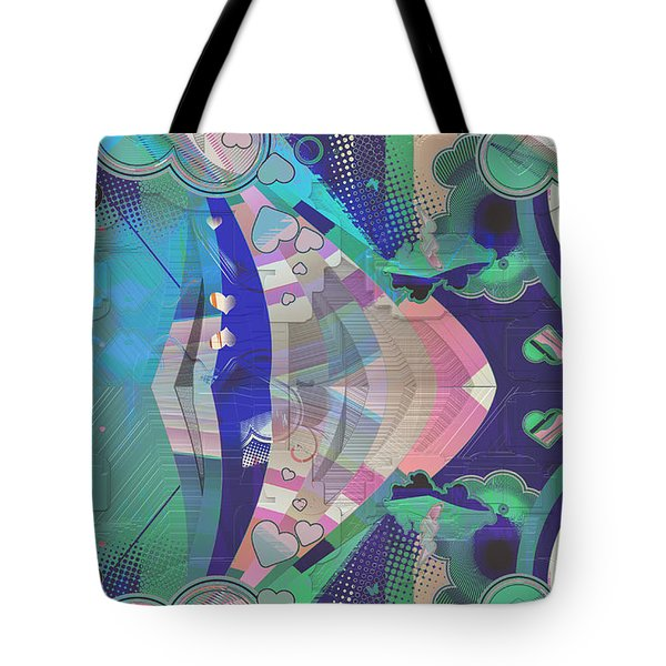 Hearts Gone Wild Tote Bag by Liane Wright