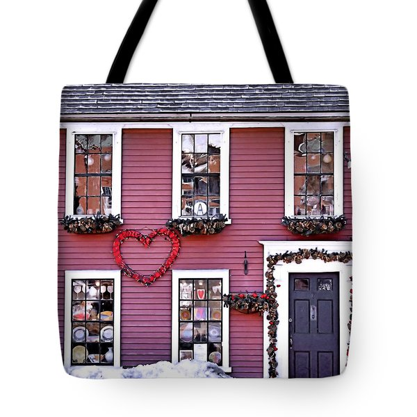 Hearts Tote Bag by Janice Drew