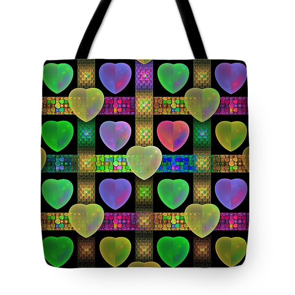 Hearts Tote Bag by Sandy Keeton