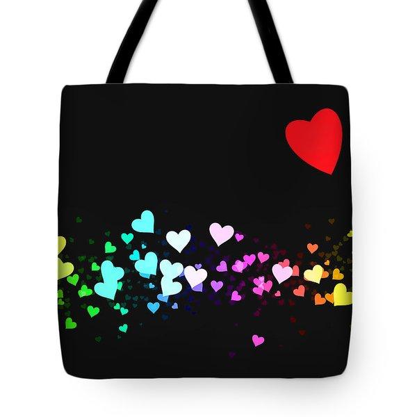 Hearts Trail Tote Bag by Daniel Hagerman