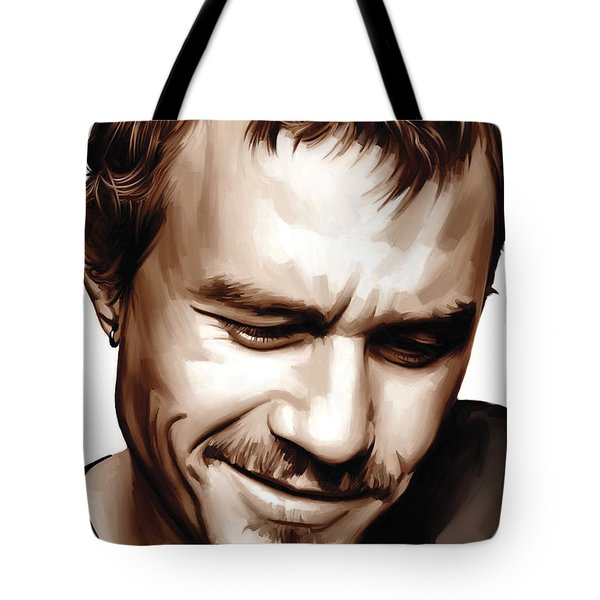 Heath Ledger Artwork Tote Bag by Sheraz A