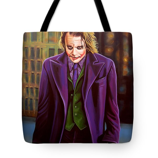 Heath Ledger As The Joker Tote Bag by Paul  Meijering