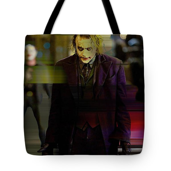 Heath Ledger Tote Bag by Marvin Blaine