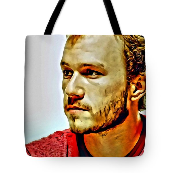 Heath Ledger Portrait Tote Bag by Florian Rodarte