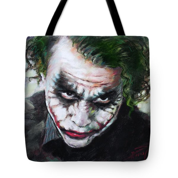 Heath Ledger The Dark Knight Tote Bag by Viola El