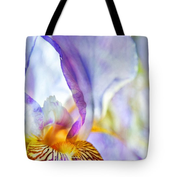 Heavenly Iris Tote Bag by Theresa Tahara