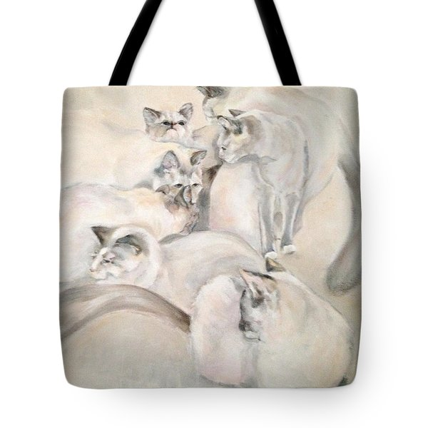 Heavenly Puffs Tote Bag by Janet Felts