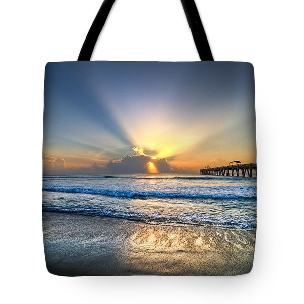 Heaven's Door Tote Bag by Debra and Dave Vanderlaan