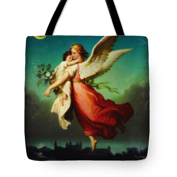 Heiliger Schutzengel  Guardian Angel 10 Pastel Tote Bag by MotionAge Designs