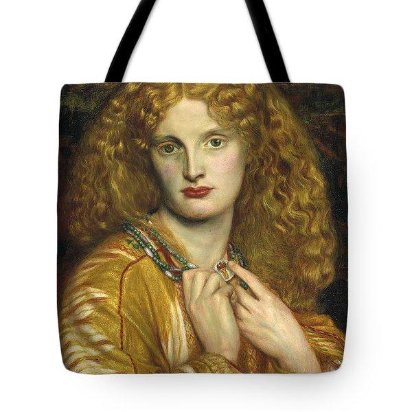 Helen Of Troy Tote Bag by Dante Gabriel Rossetti