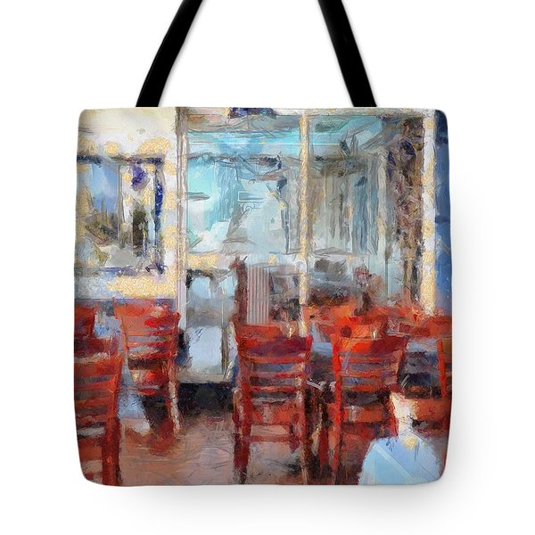 Hellas Restaurant And Bakery  Tote Bag by L Wright